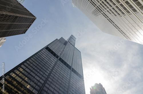 Fototapeta Chicago buildings obraz na płótnie