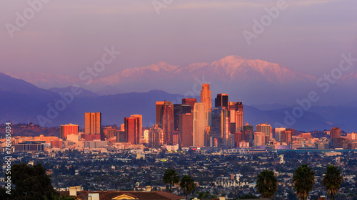 Classical view of Los Angeles Downtown #76085034