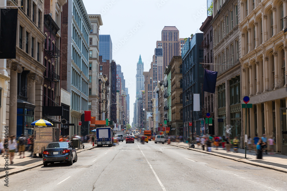 Fototapety, obrazy: Soho building facades in Manhattan New York City