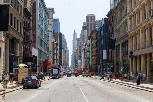 Staande foto New York TAXI Soho building facades in Manhattan New York City