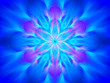 canvas print picture - Blue glowing yantra