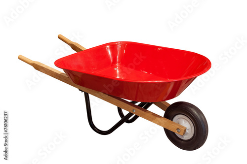 Photo Garden wheelbarrow cart isolated on white background