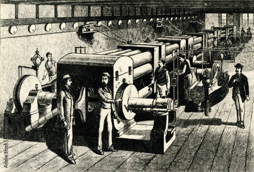Stampa su Tela World's first central power station (Edison, 1882)