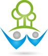 Logo, Menschen, Zwei Personen, Wald