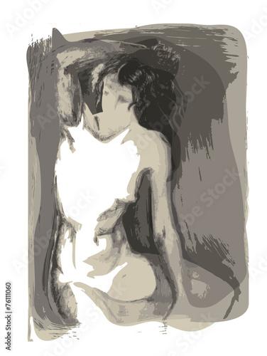 Obraz w ramie Woman