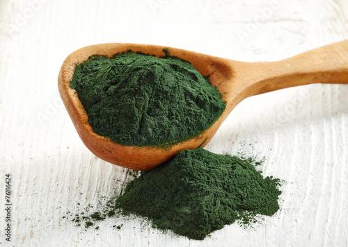 Photo Spirulina algae powder