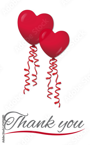Thank you with heart balloons - Buy this stock vector and explore ...