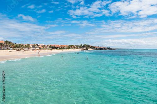 Fotobehang Santa Maria beach in Sal Cape Verde - Cabo Verde