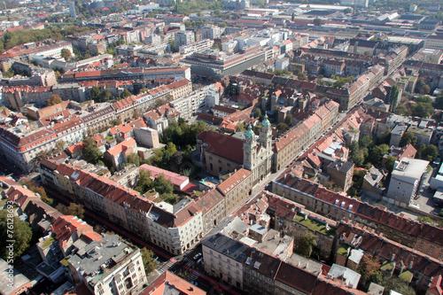 Fototapeta Basilica of the Sacred Heart of Jesus in Zagreb, Croatia. obraz na płótnie