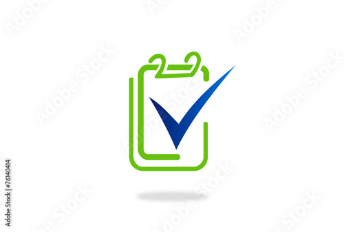 Valokuva  checklist data vector icon