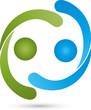 Logo, Menschen, Zwei Personen, Partnerschaft