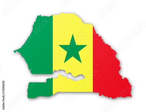 Carte Du Senegal.Carte Et Drapeau Du Senegal Buy This Stock Illustration
