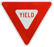 canvas print picture - Signs: Yield To Traffic