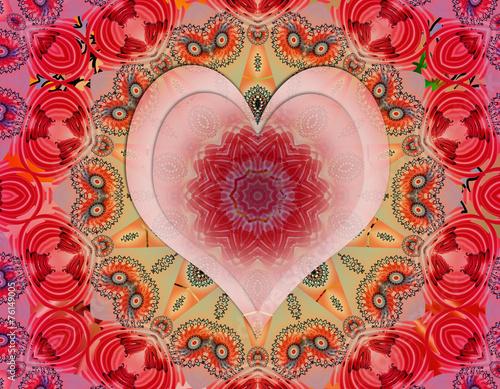 Love mandala Wallpaper Mural