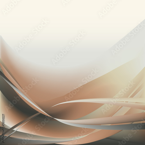 Beige and gray waves abstract background horizontal #76150227