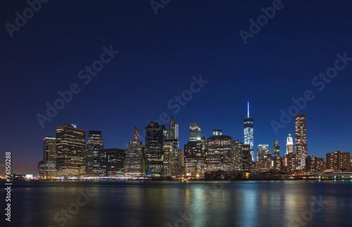 Poster Brooklyn Bridge Manhattan night view