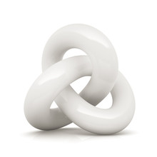 White Infinity Knot Isolated O...