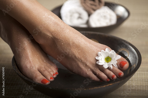Poster Pedicure Foot Spa Background