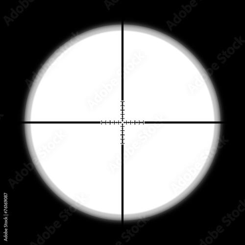 Fotografía  Sniper scope hunter on white background.