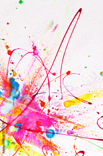 Papiers peints Forme Colorful bright ink splashes