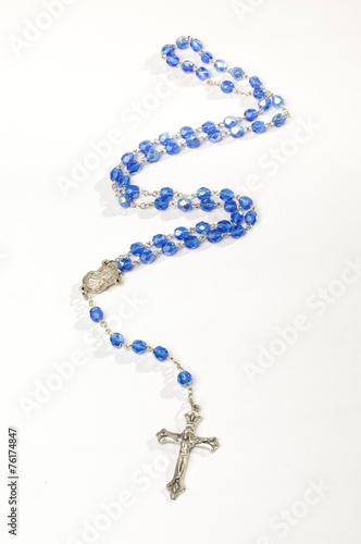 Obraz na płótnie Blue rosary isolated vertical photo