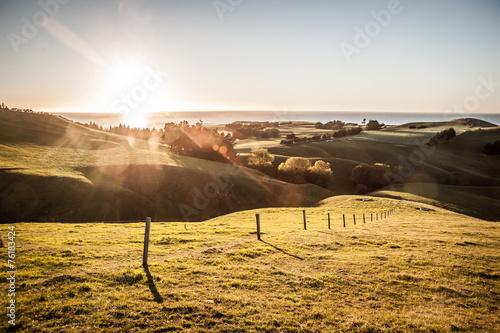 Türaufkleber Neuseeland New Zealand sunrise