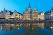 canvas print picture - Ghent Town in Belgium