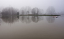 Snoqualmie River Floods The Park In Duvall, Washington