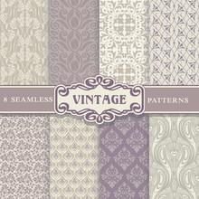 Seamless Patterns. Vintage Set.