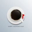 Valentine Day Card with Heart Vector Illustration