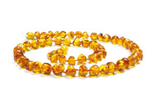 Amber Necklace In Spiral Isola...