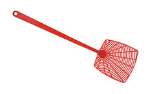 Red Fly Swatter Isolated On A ...