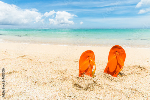 flip-flops at the beach