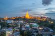 Landmark of Yangon, Shwe-dagon pagoda, Myanmar.