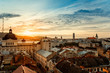 Lviv city sunrise