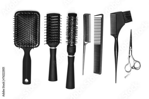 Foto hairdresser tools