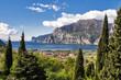 canvas print picture - Herrlicher Blick zum Gardasee, Italien