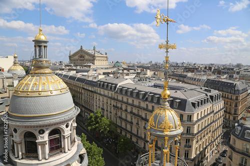 Papiers peints Paris Blick auf Oper und Boulevard Hausmann Paris