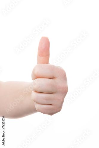 Fotografie, Obraz  handgeste - daumen hoch
