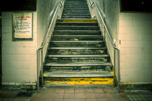 Grungy Urban Staircase In New ...