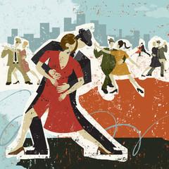 Panel Szklany Do szkoły tańca Dancing the Tango