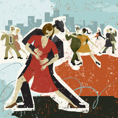 Obraz na SzkleDancing the Tango