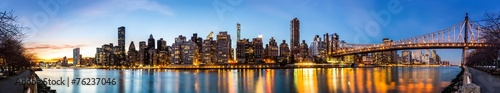 Fototapeta Manhattan panorama and Queensboro bridge obraz na płótnie