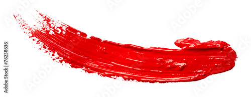 Stampa su Tela Strokes of red paint