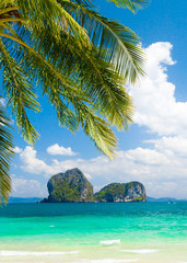 Fototapeta Morze Idyllic Coast Exotic Paradise