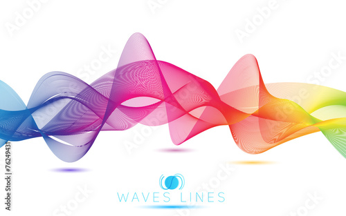 Photo  rainbow blend waves colorful gradient light  lines bright