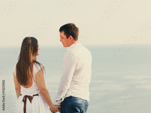 Cadres-photo bureau Artiste KB Young happy couple in love in summer day