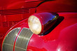 Vintage Car Headlight and Fender Close Up