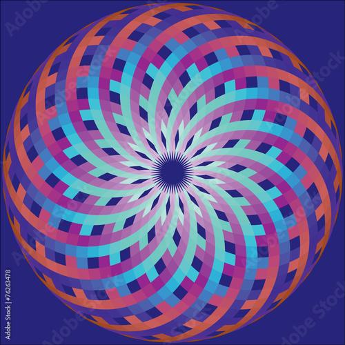 geometric ornament like stylized shell of mollusk