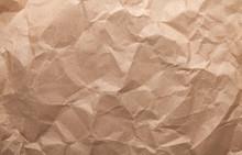 Rumpled Brown Cardboard Paper